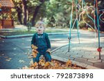child walking in the park. | Shutterstock . vector #792873898