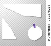 torned off pieces of paper with ... | Shutterstock .eps vector #792875296