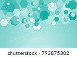 medical network isolated on... | Shutterstock .eps vector #792875302
