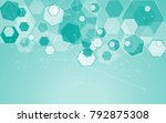 medical network isolated on... | Shutterstock .eps vector #792875308