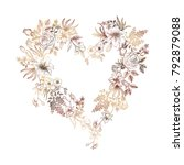beautiful heart with flowers.... | Shutterstock .eps vector #792879088