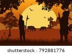 native american indian... | Shutterstock .eps vector #792881776