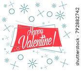 happy valentine  beautiful... | Shutterstock .eps vector #792882742