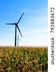 white wind power plants in a... | Shutterstock . vector #792883672