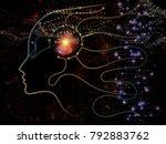 digital mind series. interplay... | Shutterstock . vector #792883762
