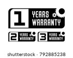 set of warranty stamps | Shutterstock .eps vector #792885238