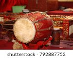 Small photo of gamelan traditional musical instruments from Java, Indonesia