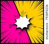 silhouette boom explosion.... | Shutterstock .eps vector #792893236