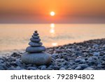 pyramid of stones for... | Shutterstock . vector #792894802