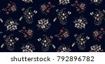 seamless floral pattern in... | Shutterstock .eps vector #792896782