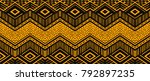 ikat geometric folklore... | Shutterstock .eps vector #792897235