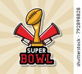 american football bowl... | Shutterstock .eps vector #792898828