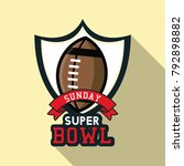 american football bowl... | Shutterstock .eps vector #792898882
