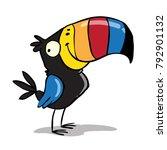 tucan bird smiling | Shutterstock .eps vector #792901132
