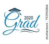class of 2020 congratulations... | Shutterstock .eps vector #792902866