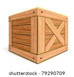 wooden box | Shutterstock .eps vector #79290709
