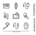 set of electronic devices flat... | Shutterstock .eps vector #792909592