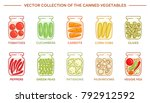 vector set of the pickled... | Shutterstock .eps vector #792912592