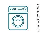 washing machine icon  washing... | Shutterstock .eps vector #792913012