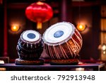 ethnic musical instrument tabla ... | Shutterstock . vector #792913948
