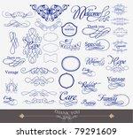 illustration of set of vintage...   Shutterstock .eps vector #79291609