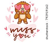 cute sloth character with... | Shutterstock .eps vector #792919162