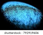 3d illustration. 3d holographic ...   Shutterstock . vector #792919606