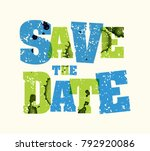the words save the date concept ... | Shutterstock .eps vector #792920086