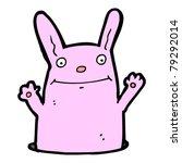 rabbit in hole cartoon | Shutterstock .eps vector #79292014