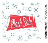flash sale  beautiful greeting... | Shutterstock .eps vector #792920326