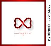 valentines day vector... | Shutterstock .eps vector #792932986