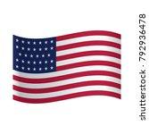 american flag  american flag on ... | Shutterstock .eps vector #792936478