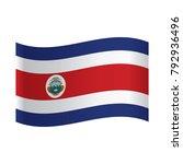 costa rican national official... | Shutterstock .eps vector #792936496
