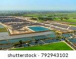 solar farm  solar panels aerial ... | Shutterstock . vector #792943102