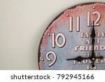 vintage clock for background | Shutterstock . vector #792945166