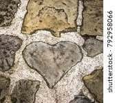 Small photo of Heart shaped step stone, finding heart shapes, find the heart shape,find heart stones