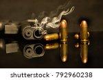 gunshot handgun guns and...   Shutterstock . vector #792960238
