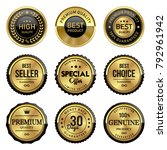 gold premium quality labels set | Shutterstock .eps vector #792961942