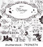 vector set  calligraphic design ... | Shutterstock .eps vector #79296574