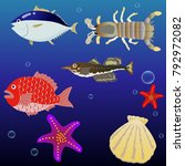 sea creatures set 1.eps this is ... | Shutterstock .eps vector #792972082