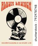 album launch flyer poster art... | Shutterstock .eps vector #792978748