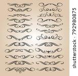 set of decorative elements... | Shutterstock .eps vector #792980875