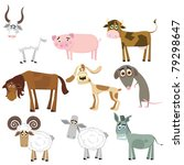 set of animals  farm  | Shutterstock .eps vector #79298647