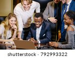 startup multiracial business... | Shutterstock . vector #792993322