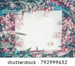 blank white greeting card... | Shutterstock . vector #792999652