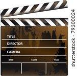 vector format movie clapper...   Shutterstock .eps vector #79300024