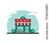 store front vector flat design... | Shutterstock .eps vector #793003885
