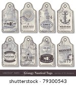 grungy nautical tags   series... | Shutterstock .eps vector #79300543