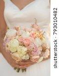 wedding bouquet in pastel...   Shutterstock . vector #793010482