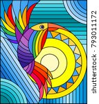 illustration in stained glass... | Shutterstock .eps vector #793011172